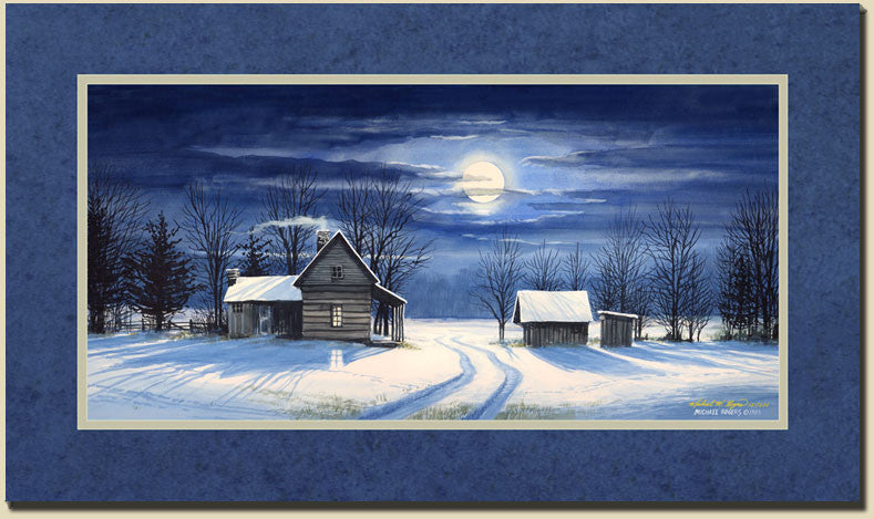 """Moon Shadows"" Canvas Print with Printed Border"