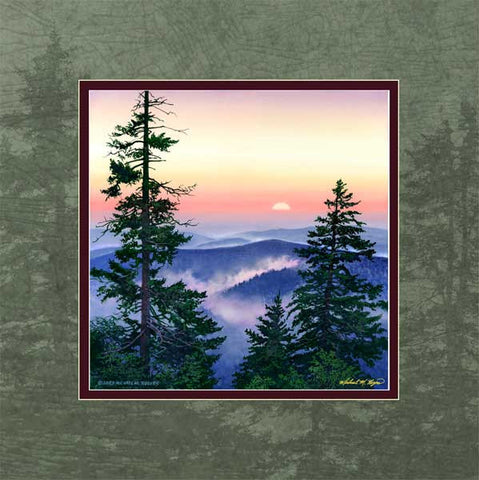 """Smoky Mountain Sunset"" <br> Canvas Print"