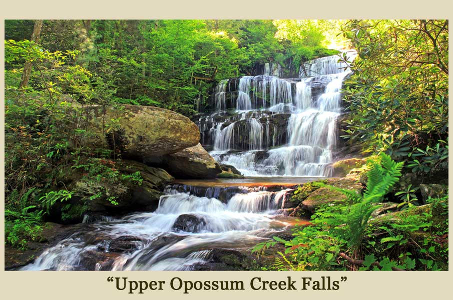 Opossum Creek Falls Upper SC Canvas Photo