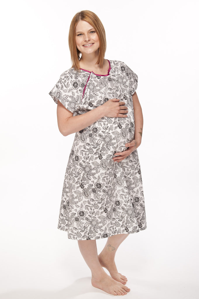 Ella Gownie - Maternity Hospital Gown - 100% Cotton