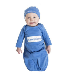 Handsome Blue BabyGown & Hat