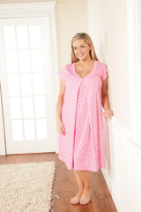 Pink Dottie Breastfeeding Nightie