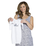 HARPER - Nursing Nightie & Baby Going-Home Oufit (3 Piece Set)