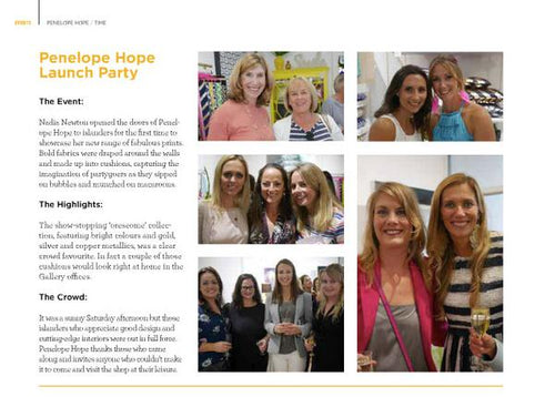 PRINT | Gallery Magazine - Penelope Hope Launch Party