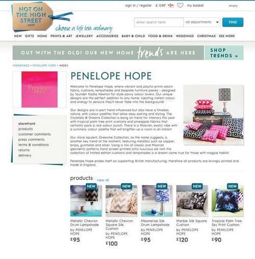 Penelope Hope now available on Notonthehighstreet.com