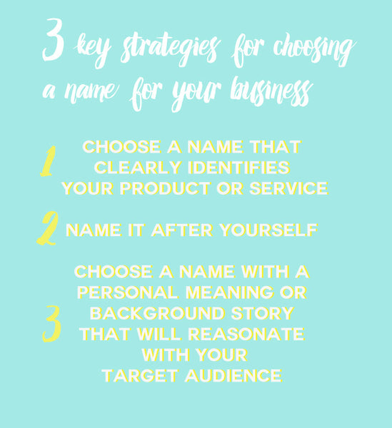 Strategies for naming your business by Penelope Hope