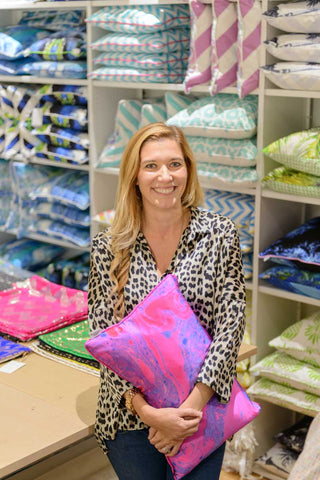 Nadia Newton, founder of luxury cushion & fabric brand Penelope Hope