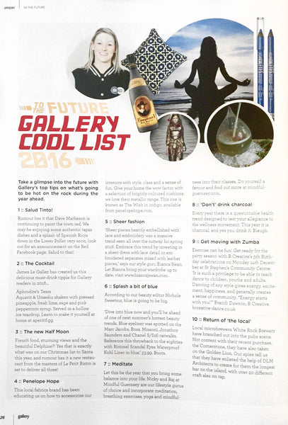 Penelope Hope featured in Gallery Magazine