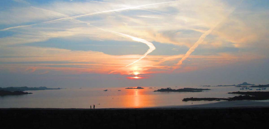 Guernsey Cobo Bay Sunset by Penelope Hope