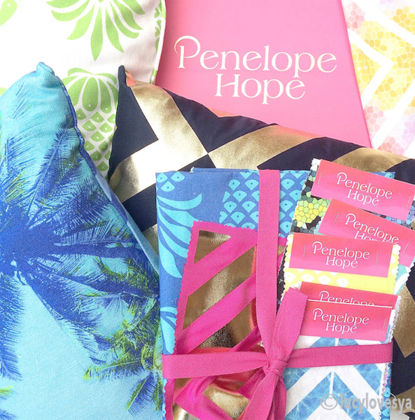 Penelope Hope luxury cushion and fabrics