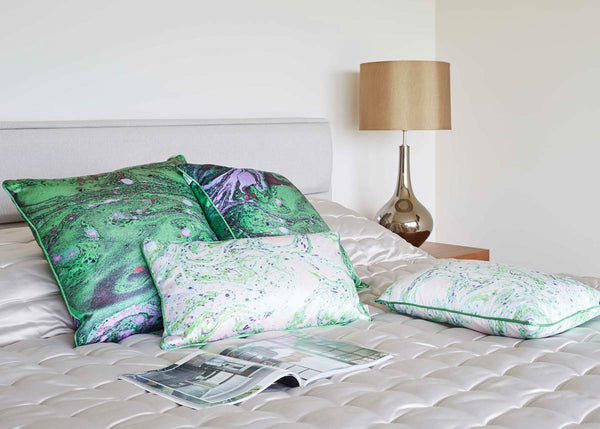 Malachite Marble Silk Cushion bedroom ideas