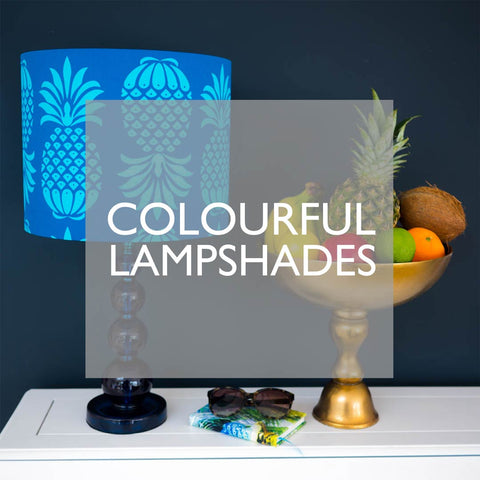Colourful Lampshades by Penelope Hope