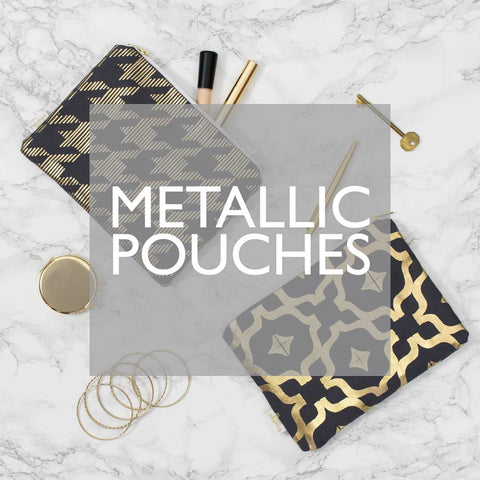 Metallic Pouches by Penelope Hope