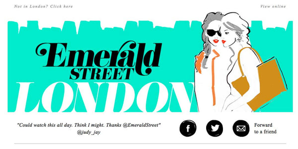 Penelope Hope featured in Emerald Street Email