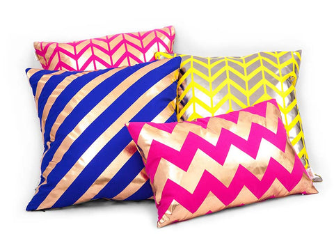 Penelope Hope Luxury Metallic Cushions- Oresome Collection