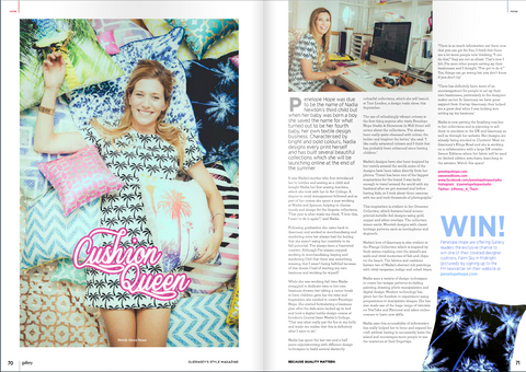 Penelope Hope Interview in Gallery Magazine