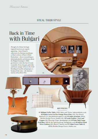 The Cheshire Magazine features our Lucky Cushion in Gold & White
