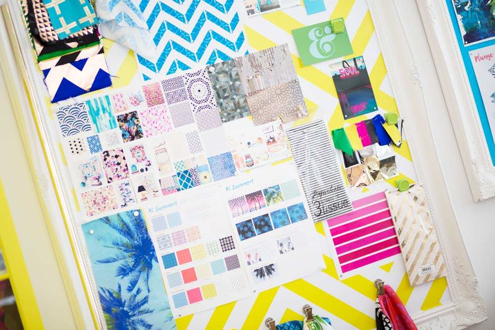 Large Magnetic Notice Board used as a mood board by Penelope Hope