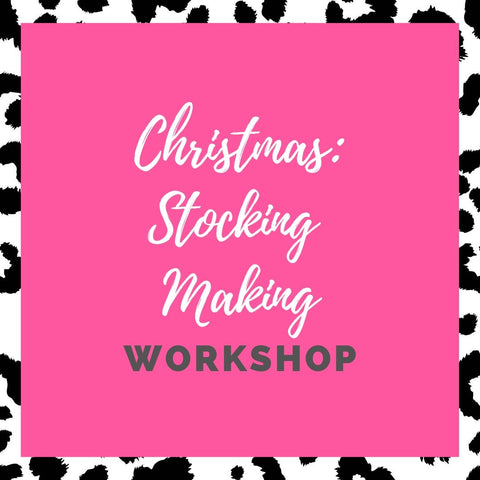How to make a fabric Christmas stocking | Workshop