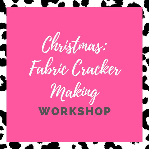 How to make a fabric Christmas cracker | Workshop