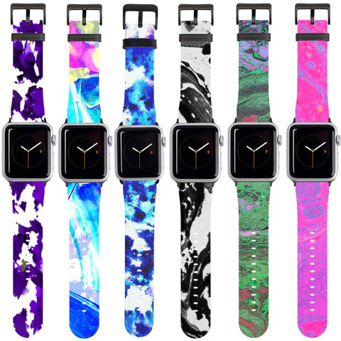 Abstract Print Colourful Apple Watch Straps