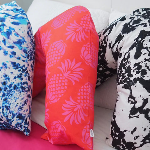V-Shaped Pillow in Pina Colada Red Mix