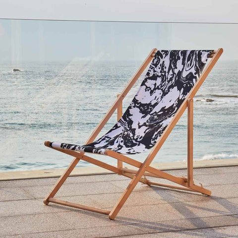 Mono Marble Deckchair by Penelope Hope