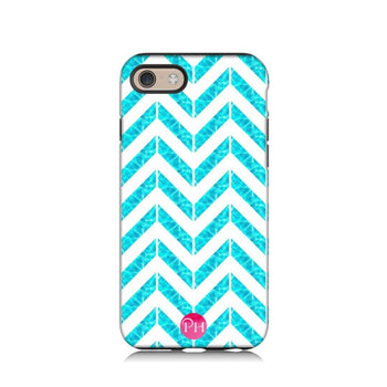 Chevron Aqua Phone Case iPhone 7 | Penelope Hope