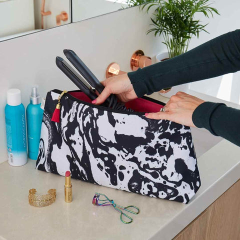 Mono Marble Travel Wash Bag by Penelope Hope