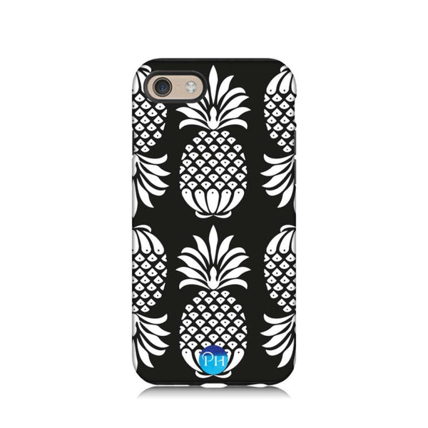 Pineapple Phone Case Black and White by Penelope Hope