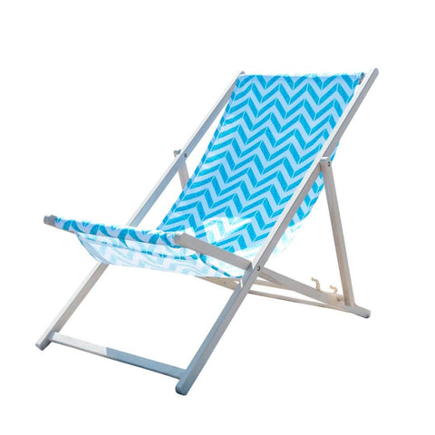 Blue Chevron Deckchair by Penelope Hope