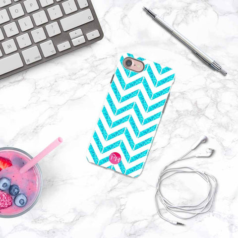 Chevron Aqua Phone Case for iPhone | Penelope Hope