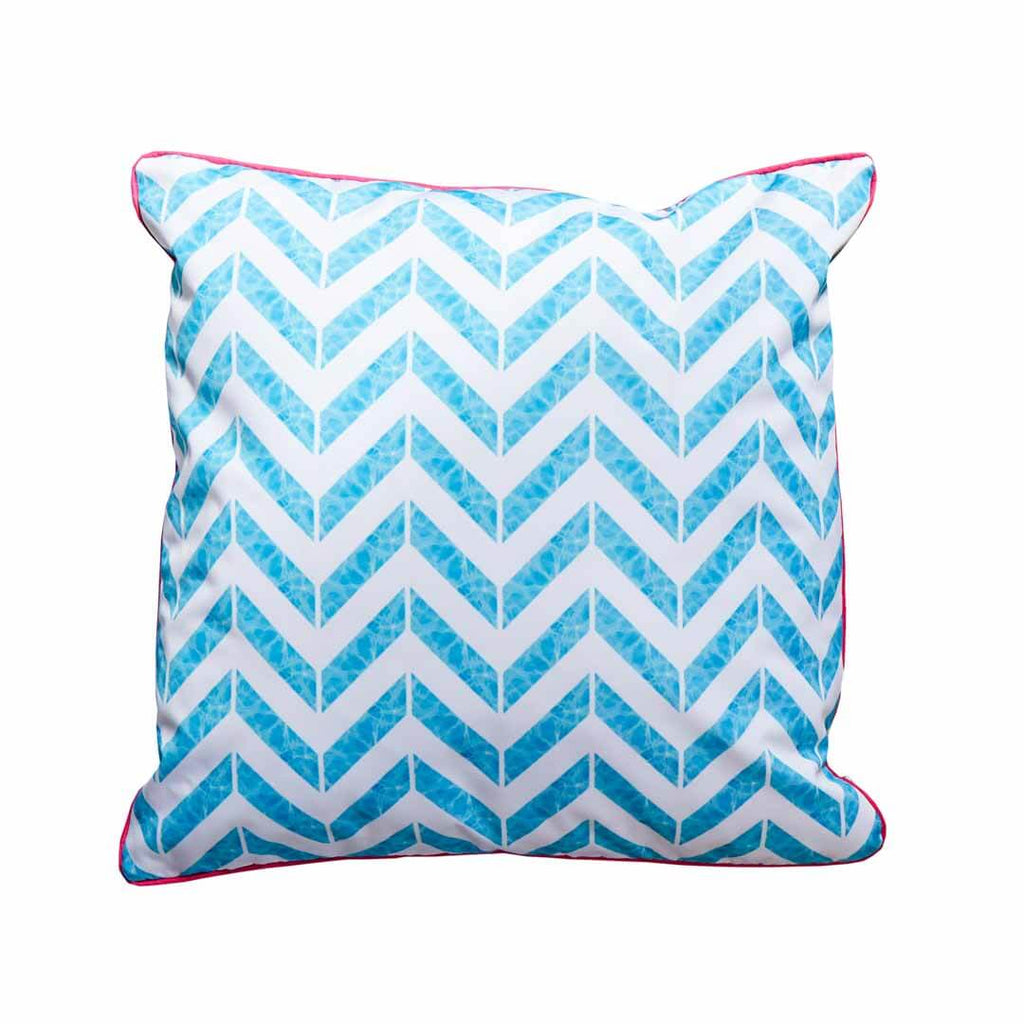 Square Outdoor Cushion in Let's Take a Dip! by Penelope Hope