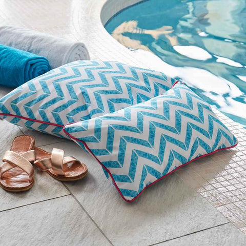 Outdoor Cushion in Let's Take a Dip! by the pool | Penelope Hope