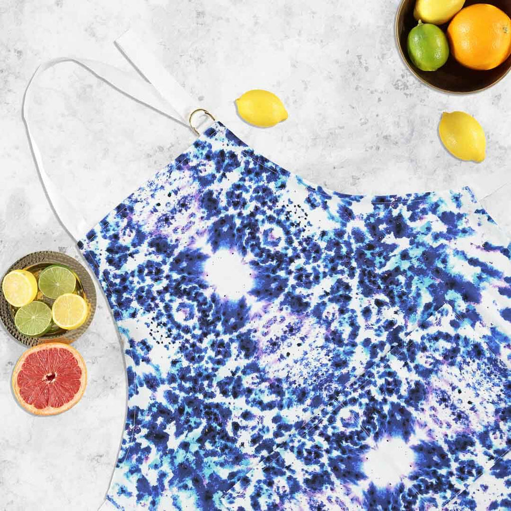 Watercolour Blue Apron by Penelope Hope