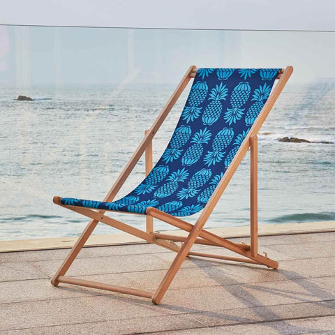 Blue Pineapple Deckchair by Penelope Hope