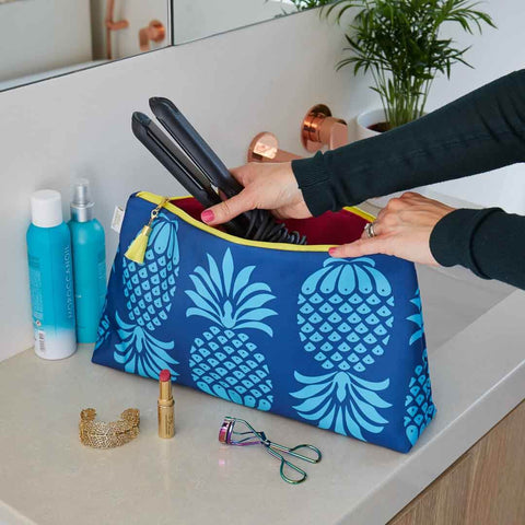 Blue Pineapple Travel Wash Bag by Penelope Hope
