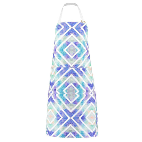 Geometric Blue Apron by Penelope Hope
