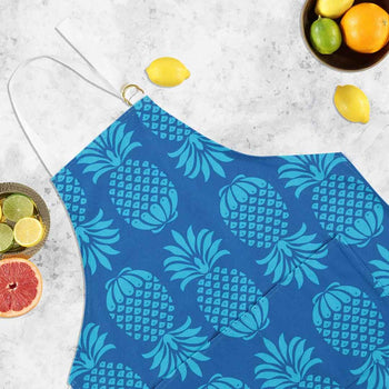 Pineapple Blue Mix Apron by Penelope Hope
