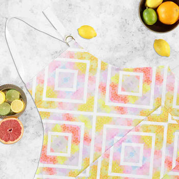 Geometric Yellow Apron by Penelope Hope