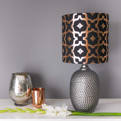 Moroccan Metallic Lampshade in Black and Copper by Penelope Hope