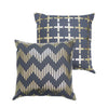 Line Chevron Metallic Cushion in Pewter and Gold by Penelope Hope