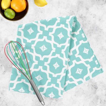 Moroccan Teal Tea Towel by Penelope Hope