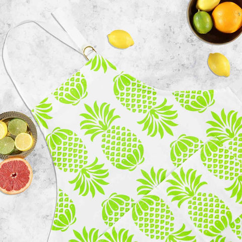 Pineapple Green Apron by Penelope Hope