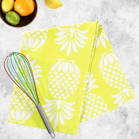 Pineapple Chartreuse Tea Towel by Penelope Hope