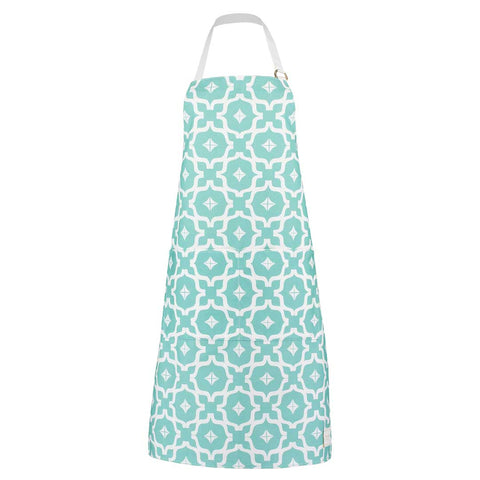 Moroccan Taha'a Teal Apron by Penelope Hope