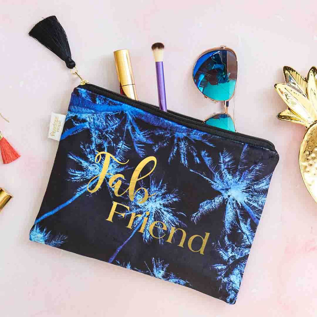 Fab Friend Velvet Clutch Bag or Cosmetic Pouch