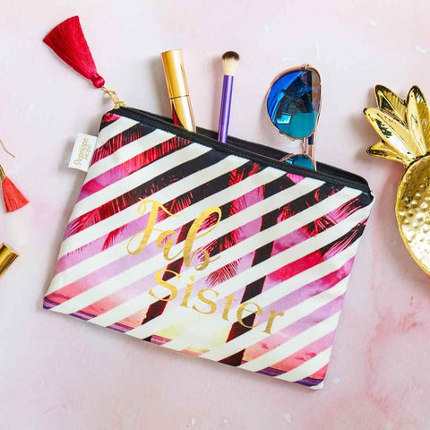 Fab Sister Velvet Clutch Bag or Cosmetic Pouch