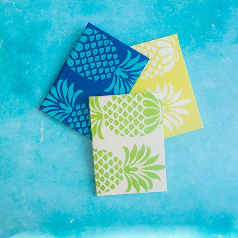 Pineapple Fabric A5 Lined Notebooks | Penelope Hope