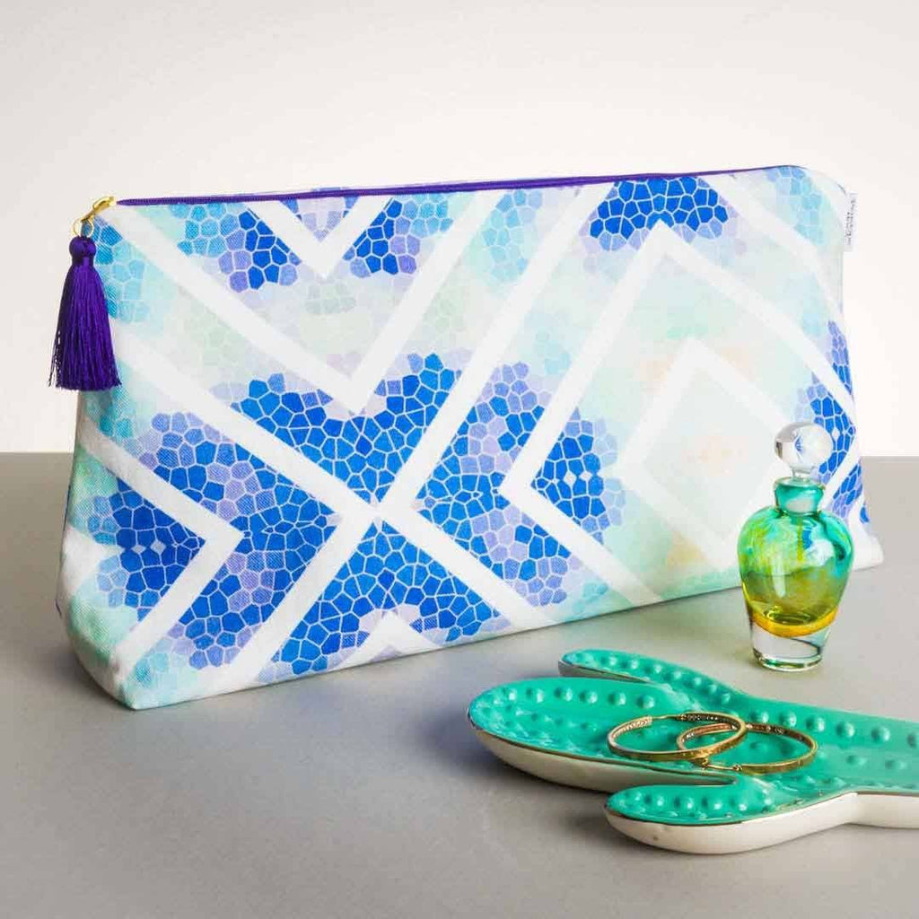 Wanderlust Azure Wash bag by Penelope Hope